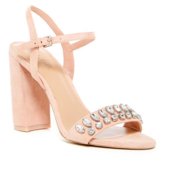 ffa72b880 Aldo Womens Suede Open Toe High Block Heel Sandals